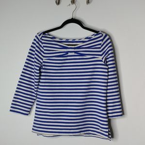 Kate Spade striped 3/4 length sleeve top Size L